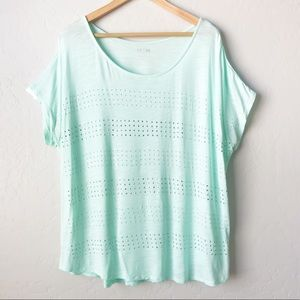 Apt. 9 Mint Green Top with Studded Stripes